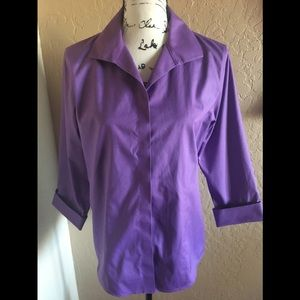 Chico's Tops - Purple Chico's 3/4 length sleeve blouse